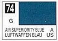 Gunze Sangyo  Gunze Gloss Solvent-Based Acrylic Gloss Air Superiority Blue 10ml Bottle GUZC074
