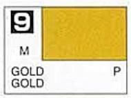 Solvent-Based Acrylic Metallic Gold 10ml Bottle #GUZ9