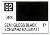 Gunze Sangyo  Gunze Semi-Gloss Solvent-Based Acrylic Semi-Gloss Black 10ml Bottle GUZC092