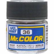Mr Color Semi-Gloss Gray Green #GUZC36