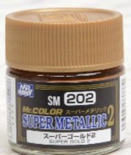 Gunze Sangyo  Gunze Super Metallic 2 Super Metallic 2 Gold Lacquer 10ml Bottle GUZSM202