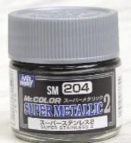 Gunze Sangyo  Gunze Super Metallic 2 Super Metallic 2 Stainless Lacquer 10ml Bottle GUZSM204
