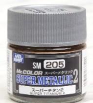 Super Metallic 2 Titanium Lacquer 10ml Bottle #GUZSM205