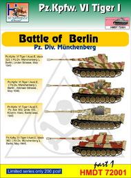 H-Model Decals  1/72 Pz.Kpfw.VI Tiger I Battle of Berlin (Pz. Div. Mnchenberg), Pt.1 HMT72001