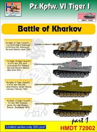H-Model Decals  1/72 Pz.Kpfw.VI Tiger I Battle of Kharkov, Pt.1 HMT72002