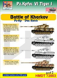 H-Model Decals  1/72 Pz.Kpfw.VI Tiger I Battle of Kharkov (Pz.Kp. 'Das Reich'), Pt.2 . TEMPORARILY SAVE 1/3RD!!! HMT72003