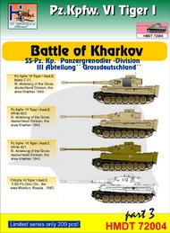 H-Model Decals  1/72 Pz.Kpfw.VI Tiger I Battle of Kharkov (SS-Pz.Kp. 'Grossdeutschland'), Pt.3 HMT72004