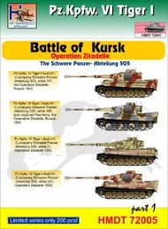 H-Model Decals  1/72 Pz.Kpfw.VI Tiger I Battle of Kursk (Schwere Pz.-Abt.505), Pt.1 . TEMPORARILY SAVE 1/3RD!!! HMT72005