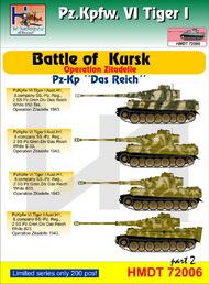 H-Model Decals  1/72 Pz.Kpfw.VI Tiger I Battle of Kursk (Pz.Kp. 'Das Reich'), Pt.2 HMT72006
