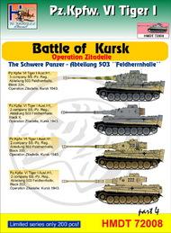 H-Model Decals  1/72 Pz.Kpfw.VI Tiger I Battle of Kursk (Schwere Pz. Abt.503 'Feldherrnhalle'), Pt.4 HMT72008