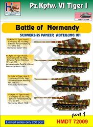H-Model Decals  1/72 Pz.Kpfw.VI Tiger I Battle of Normandy (Schwere SS-Pz. Abt.101), Pt.1 HMT72009