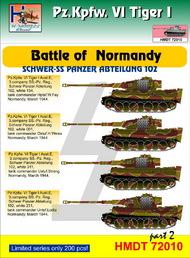 H-Model Decals  1/72 Pz.Kpfw.VI Tiger I Battle of Normandy (Schwere SS-Pz. Abt.102), Pt.2 HMT72010