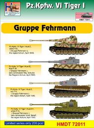 H-Model Decals  1/72 Pz.Kpfw.VI Tiger I Gruppe Fehrmann HMT72011