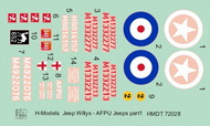 H-Model Decals  1/72 Willys Jeep MB/Ford GPW: AFPU Jeeps HMT72028