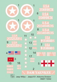 H-Model Decals  1/72 Willys Jeep MB/Ford GPW: 101st Airborne Division HMT72042