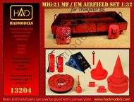 HAD Models  1/32 Mikoyan MiG-21MF/MiG-21UM Airfield accessories set wheel chocks, intake guards fire extinguishers etc (designed to be used with Trumpeter kits) HUN132004