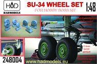 Sukhoi Su-34 Wheel set (designed to be used with Hobby Boss kits) #HUN248004
