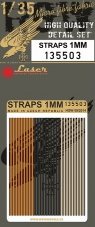 HGW Models  1/35 1mm Straps (Alternate Colors) HGW135503