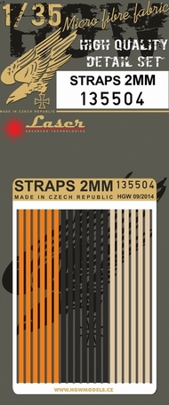 HGW Models  1/35 2mm Straps (Alternate Colors) HGW135504