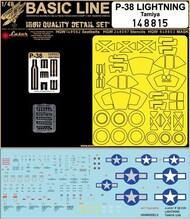 Lockheed P-38F/G Lightning BASIC LINE: seatbelts + masks #HGW148815