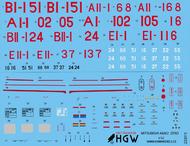 A6M2 'Zero' Stencils (TAM) #HGW232015