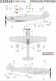 Messerschmitt Bf.109E-3/Bf.109E-4/Bf.109E-7 - Stencils #HGW232040