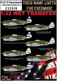 Republic P-47D Thunderbolt Razorback OVER NEW GUINEA Pt.3 #HGW232916