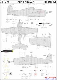 HGW Models  1/32 Grumman F6F-5 Hellcat - Stencils - Pre-Order Item HGW244001