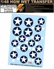 Republic P-47D NATIONAL INSIGNIA 1942-1943 #HGW248908