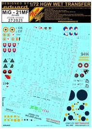Mikoyan MiG-21MF - Marking & Stencils Includes HGW272019 and HGW27020 #HGW272021