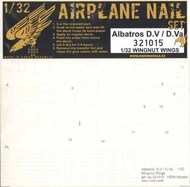 re-released! Albatros D.V / D.Va Airplane Nail Set #HGW321015