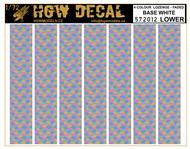 4 Colour Lozenge Lower - base white - sheet: A5 #HGW572012