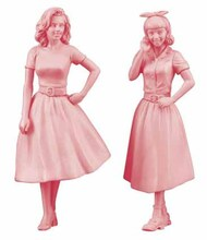 Hasegawa  1/24 1950's American Girls Figures (2) (New Tool) - Pre-Order Item HSG29110