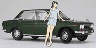 Datsun Bluebird 1600 SSS Car w/1960s Girl Figure (Ltd Edition) - Pre-Order Item #HSG52277