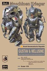 Hasegawa  1/35 Maschinen Krieger P.K.A. Ausf G Gustav & Ausf M Melusine Anti-Gravity Armored Fighters (2) (Ltd Edition) HSG64117