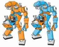 MechatroCHUBU #01, #02 Orange & Sky Blue Mechanical Mobile Suits (Ltd Edition) - Pre-Order Item* #HSG64791