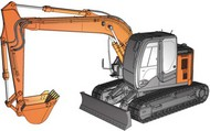 Hasegawa  1/35 Hitachi Z Axis135 US Excavator Construction Machinery HSG66001