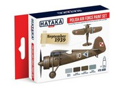 Hataka Hobby  Hataka Red Line (Airbrush-Dedicated) Red Line (Airbrush-Dedicated): Polish AF 1919-39 Camouflage Paint Set (4 Colors) 17ml Bottles HTKAS1
