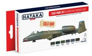 Hataka Hobby  Hataka Red Line (Airbrush-Dedicated) Red Line (Airbrush-Dedicated): USAF 1980s Cold War Camouflage Paint Set (6 Colors) 17ml Bottles HTKAS10