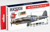 Hataka Hobby  Hataka Red Line (Airbrush-Dedicated) Red Line (Airbrush-Dedicated): Italian Air Force Paint set WWII vol. 1 (6 Colors) 17ml Bottles HTKAS103