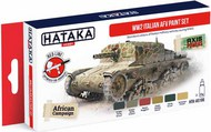 Hataka Hobby  Hataka Red Line Red Line (Airbrush-Dedicated): WW2 Italian AFV paint set (6 Colors) 17ml Bottles HTKAS106