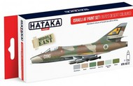 Hataka Hobby  Hataka Red Line (Airbrush-Dedicated) Red Line (Airbrush-Dedicated): Israeli AF 1970s Desert Colors Paint Set (6 Colors) 17ml Bottles HTKAS12