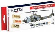 Hataka Hobby  Hataka Red Line (Airbrush-Dedicated) Red Line (Airbrush-Dedicated): USMC Helicopters Paint Set (8 Colors) 17ml Bottles HTKAS14