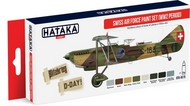 Hataka Hobby  Hataka Red Line (Airbrush-Dedicated) Red Line (Airbrush-Dedicated): WWII Swiss AF 1930s-40s Paint Set (8 Colors) 17ml Bottles (D)<!-- _Disc_ --> HTKAS15