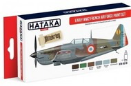 Hataka Hobby  Hataka Red Line (Airbrush-Dedicated) Red Line (Airbrush-Dedicated): Early WWII French AF Paint Set (6 Colors) 17ml Bottles HTKAS16
