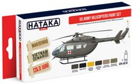Hataka Hobby  Hataka Red Line (Airbrush-Dedicated) Red Line (Airbrush-Dedicated): US Army Helicopter 1950s-Present Paint Set (6 Colors) 17ml Bottles HTKAS19