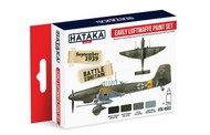 Hataka Hobby  Hataka Red Line (Airbrush-Dedicated) Red Line (Airbrush-Dedicated): Early Luftwaffe 1937-40 Camouflage Paint Set (4 Colors) 17ml Bottles HTKAS2