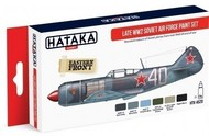 Hataka Hobby  Hataka Red Line (Airbrush-Dedicated) Red Line (Airbrush-Dedicated): Late WWII Soviet AF Paint Set (6 Colors) 17ml Bottles HTKAS20