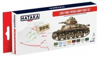 Hataka Hobby  Hataka Red Line (Airbrush-Dedicated) Red Line (Airbrush-Dedicated): Early WWII French Army 1918-40 Paint Set (8 Colors) 17ml Bottles HTKAS21