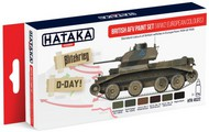 Hataka Hobby  Hataka Red Line (Airbrush-Dedicated) Red Line (Airbrush-Dedicated): British AFV WWII Europe 1939-45 Paint Set (6 Colors) 17ml Bottles HTKAS22